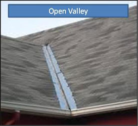 how to install open valley flashing